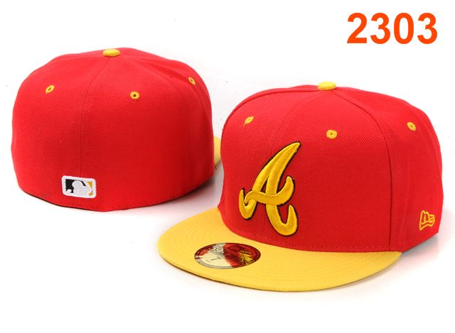 Atlanta Braves MLB Fitted Hat PT22