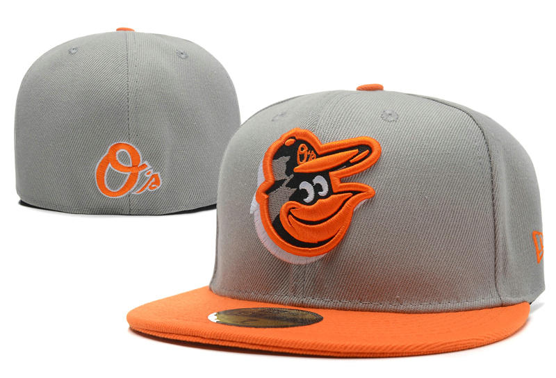 Baltimore Orioles Grey Fitted Hat LX 0701