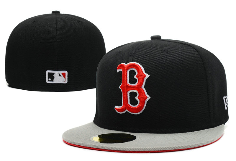 Boston Red Sox Black Fitted Hat LX 1 0721