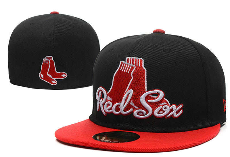 Boston Red Sox Black Fitted Hat LX 0721