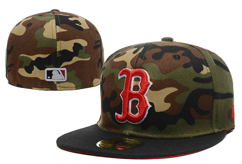 Boston Red Sox Camo Fitted Hat LX 0721