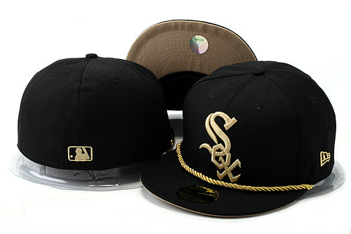 Chicago White Sox Black Fitted Hat YS 0528
