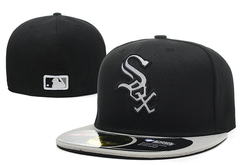 Chicago White Sox Black Fitted Hat LX 0721