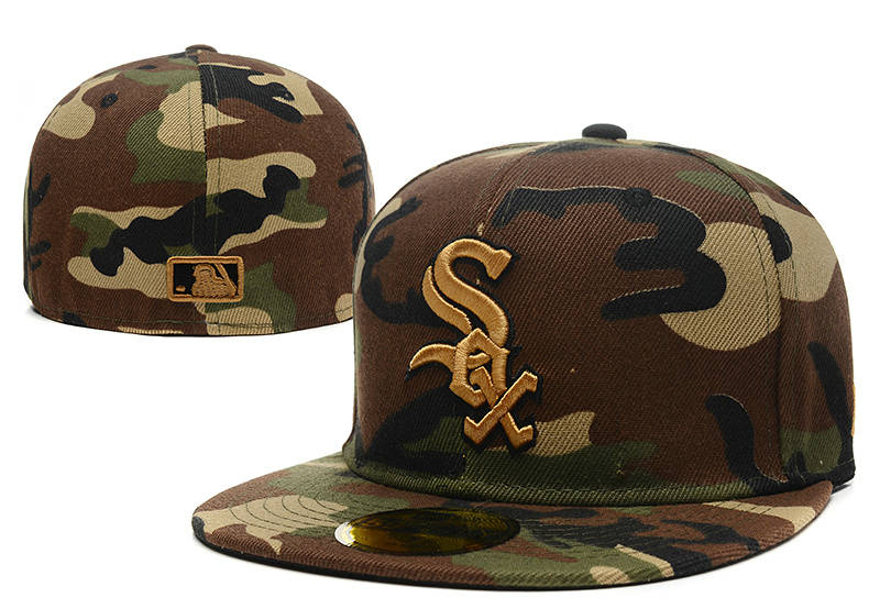 Chicago White Sox Camo Fitted Hat LX 1 0721