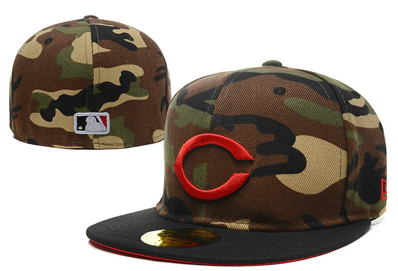 Cincinnati Reds Camo Fitted Hat LX 1 0721