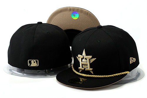 Houston Astros Black Fitted Hat YS 0528