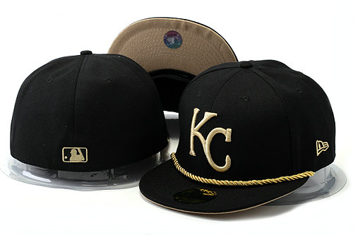 Kansas City Royals Black Fitted Hat YS 0528