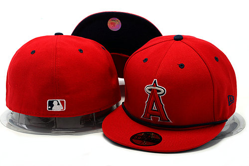 Los Angeles Angels Red Fitted Hat YS 0528