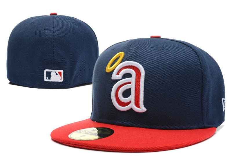 Los Angeles Angels Navy Fitted Hat LX 0701