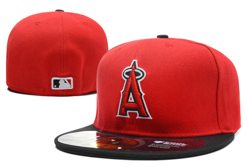 Los Angeles Angels Red Fitted Hat LX 0701