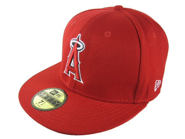Los Angeles Angels Red Fitted Hat LX 0512