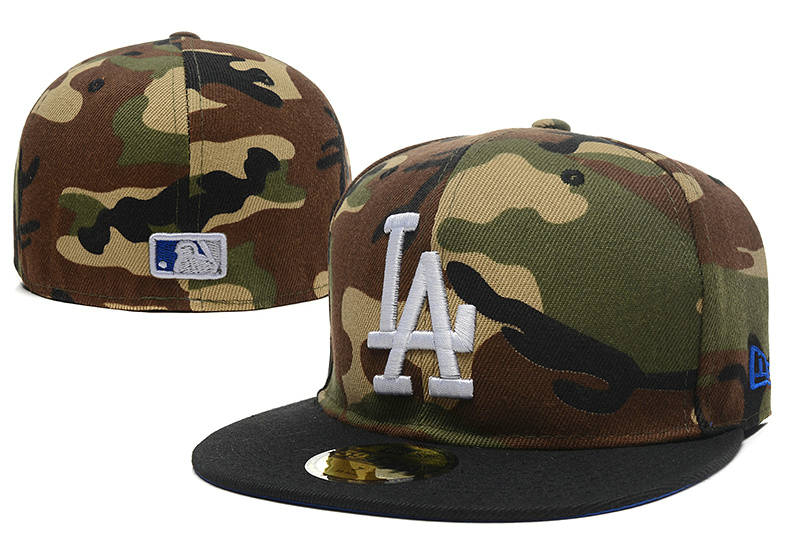 Los Angeles Dodgers Camo Fitted Hat LX 0721