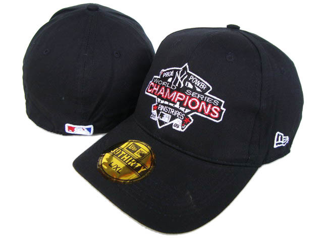 2009 World Series Champions New York Yankees Black Peaked Cap DF 0512