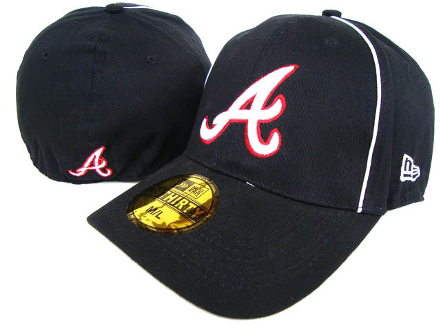 Atlanta Braves Black Peaked Cap DF 0512