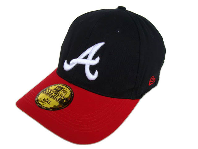 Atlanta Braves Black Peaked Cap DF1 0512