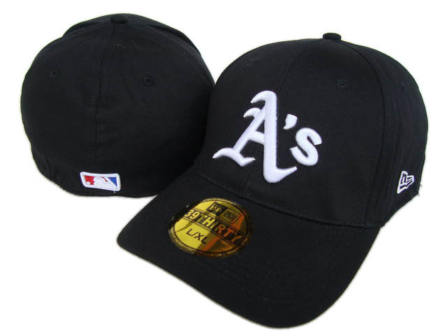 Oakland Athletics Black Peaked Cap DF 0512