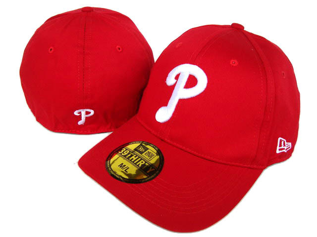 Philadelphia Phillies Red Peaked Cap DF 0512