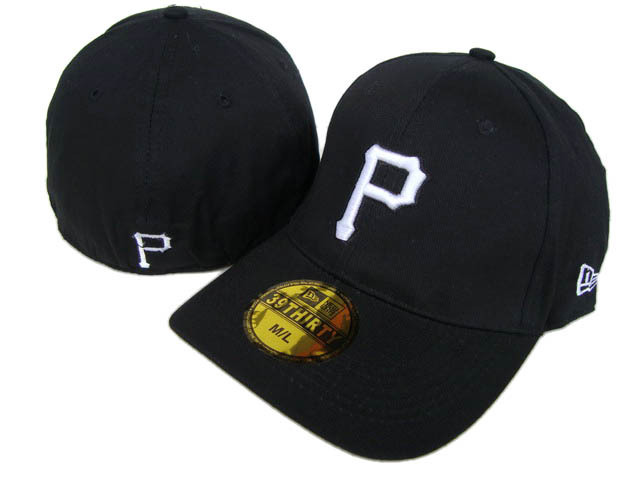 Pittsburgh Pirates Black Peaked Cap DF 0512