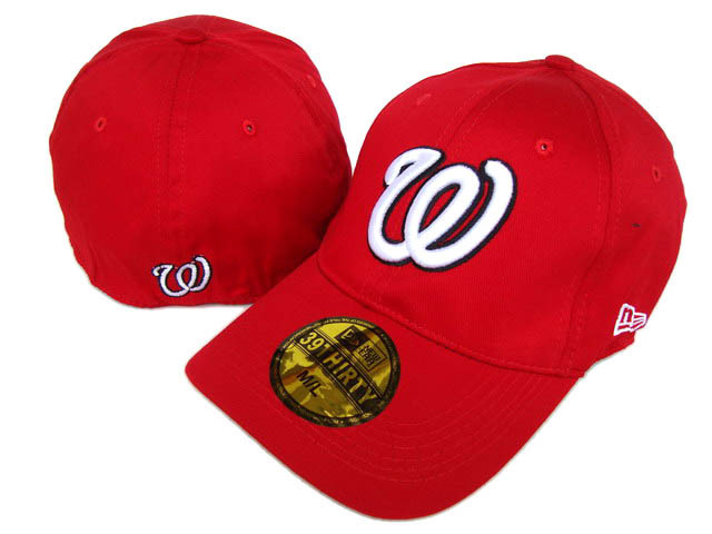 Washington Nationals Red Peaked Cap DF 0512