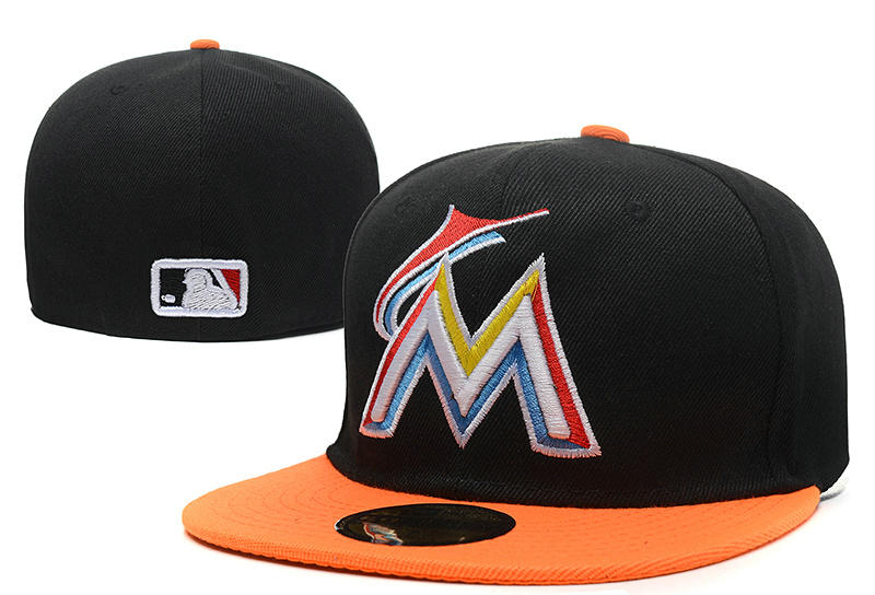 Miami Marlins Black Fitted Hat LX 0721