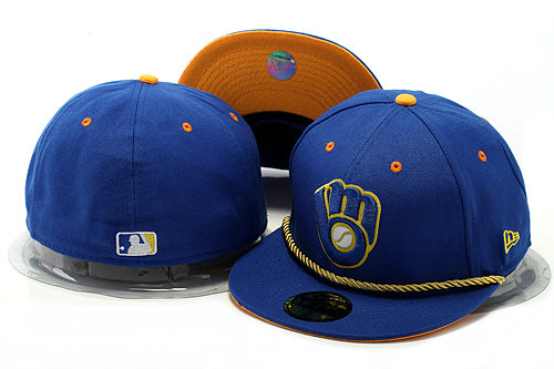 Milwaukee Brewers Blue Fitted Hat YS 0528