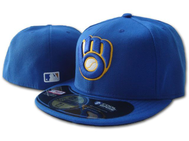 Milwaukee Brewers MLB Fitted Hat SF