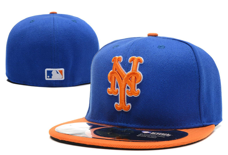 New York Mets Blue Fitted Hat LX 0701