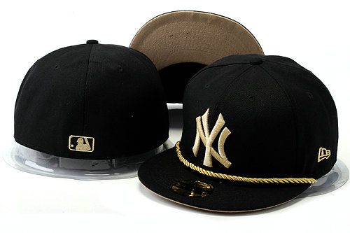 New York Yankees Black Fitted Hat YS 0528