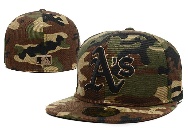 Oakland Athletics Camo Fitted Hat LX 0721