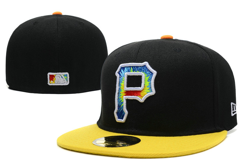 Pittsburgh Pirates Black Fitted Hat LX 1 0721