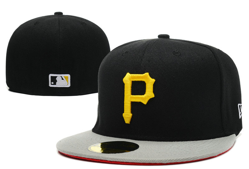 Pittsburgh Pirates Black Fitted Hat LX 0721