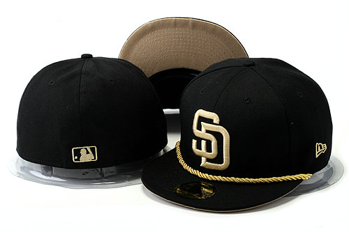 San Diego Padres Black Fitted Hat YS 0528