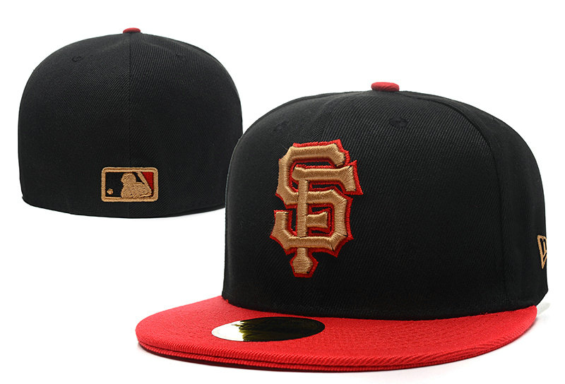 San Francisco Giants Black Fitted Hat LX 0721