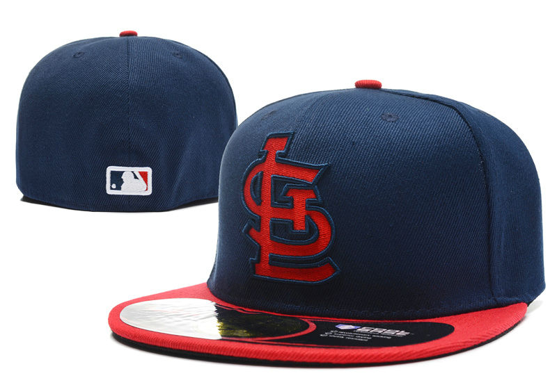 St. Louis Cardinals Navy Fitted Hat LX 0701