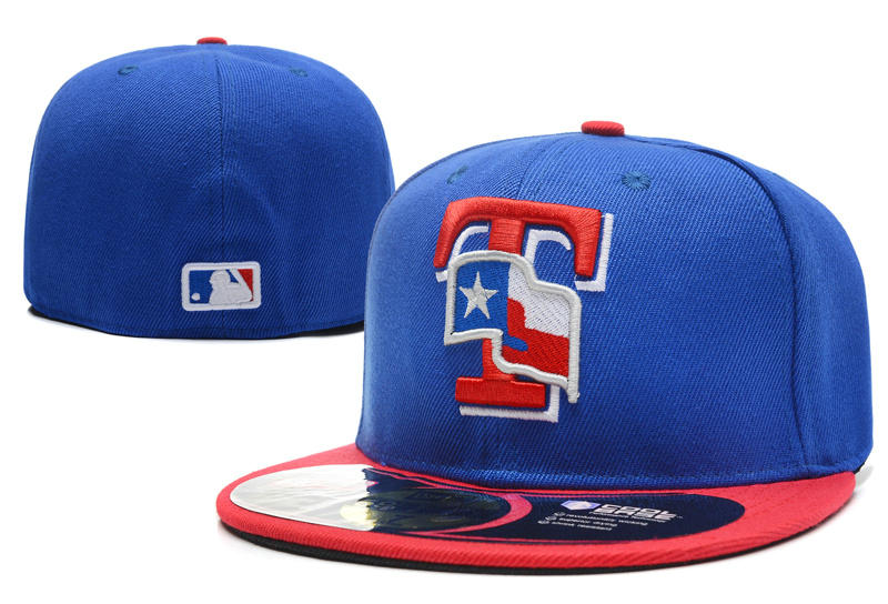 Texas Rangers Blue Fitted Hat LX 1 0701