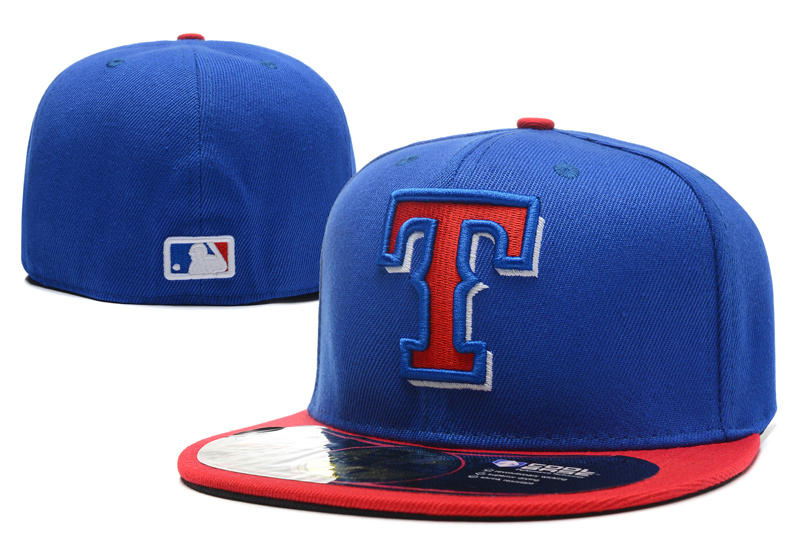 Texas Rangers Blue Fitted Hat LX 0701
