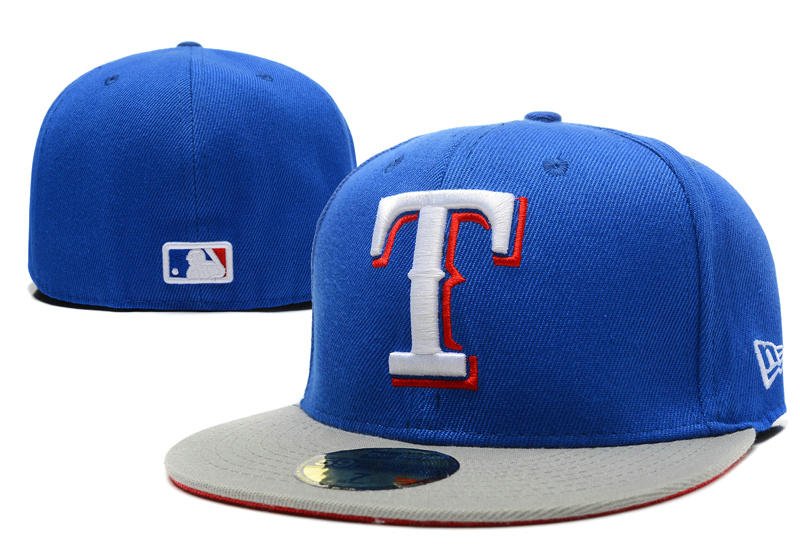 Texas Rangers Blue Fitted Hat LX 0721