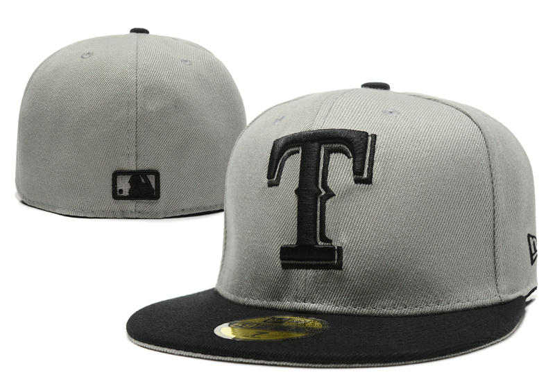 Texas Rangers Grey Fitted Hat LX 0721