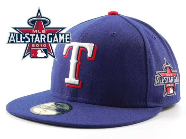 Texas Rangers 2010 MLB All Star Fitted Hat Sf22