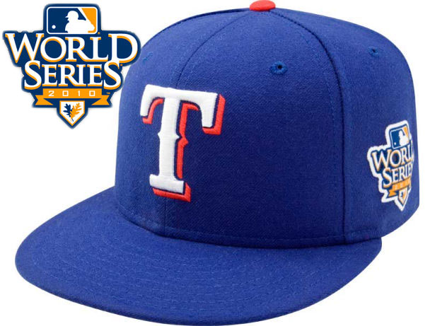 Texas Rangers 2010 MLB World Series Fitted Hat Sf3