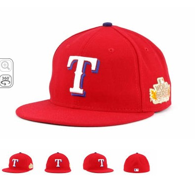 Texas Rangers 2011 MLB World Series Patch Hat SF1