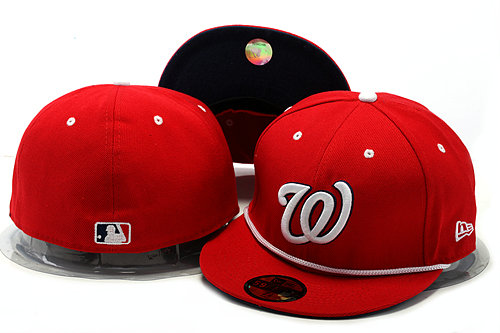Washington Nationals Red Fitted Hat YS 0528