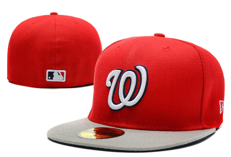 Washington Nationals Red Fitted Hat LX 0721