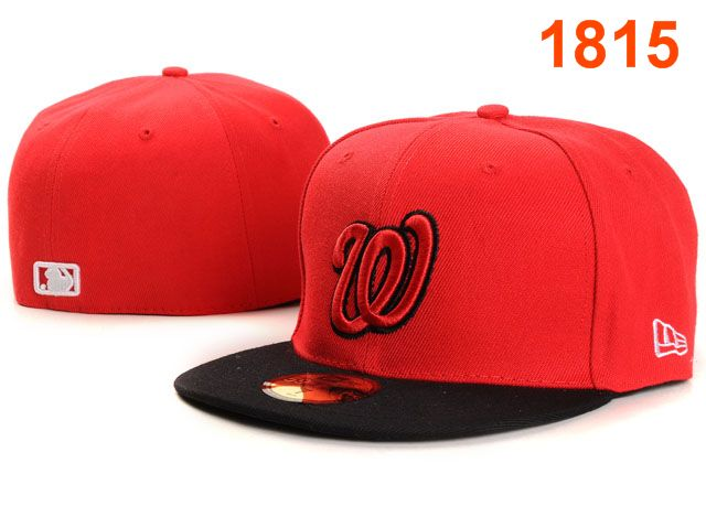 Washington Nationals MLB Fitted Hat PT01