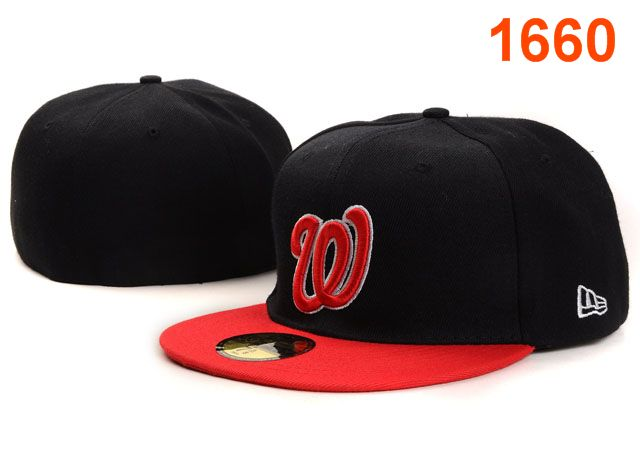 Washington Nationals MLB Fitted Hat PT02