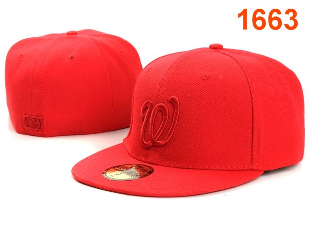 Washington Nationals MLB Fitted Hat PT04