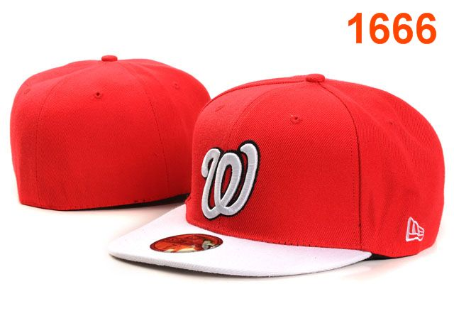 Washington Nationals MLB Fitted Hat PT07