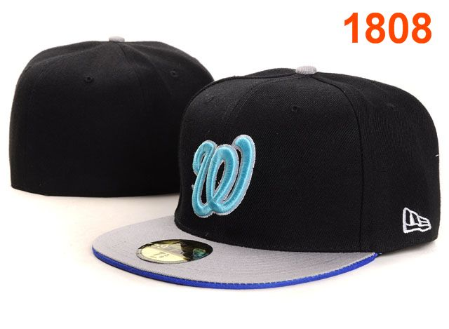 Washington Nationals MLB Fitted Hat PT09