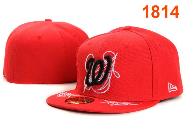 Washington Nationals MLB Fitted Hat PT14