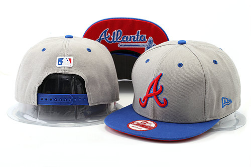 Atlanta Braves Grey Snapback Hat YS 0528